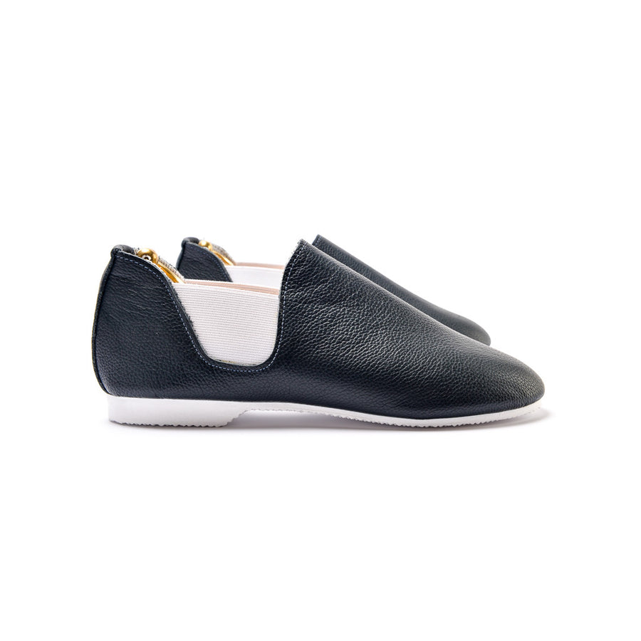 CONNAUGHT CHELSEA SHOE - NAVY LEATHER