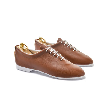 REGENT WHOLECUT SHOE - BROWN LEATHER