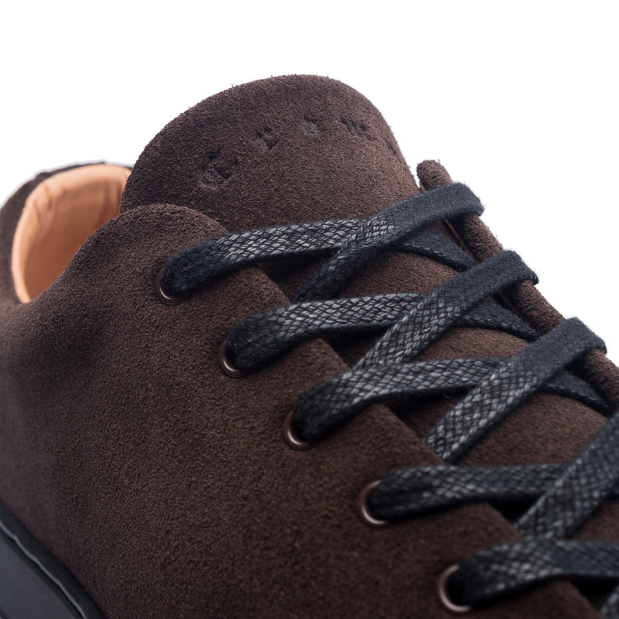 OVERSTONE DERBY - BROWN SUEDE BLACK