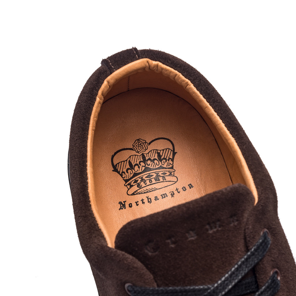OVERSTONE DERBY SNEAKER - BROWN BLACK SUEDE