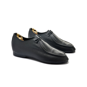 TURNER APRON SHOE - BLACK LEATHER