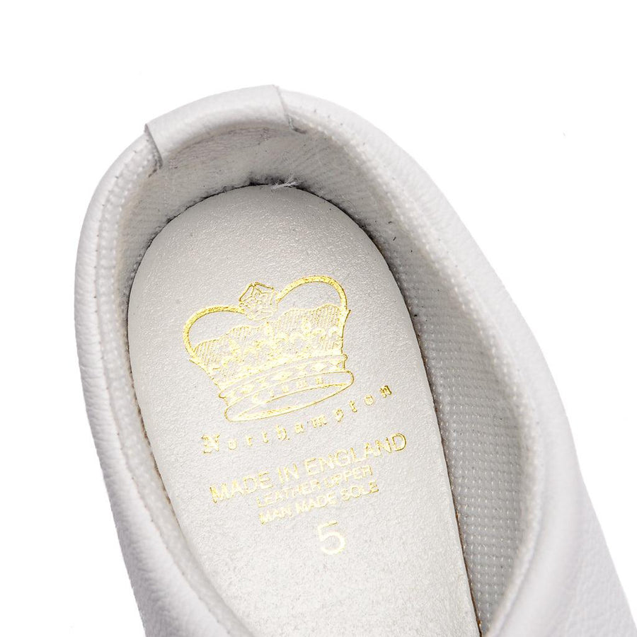 HERVEY SLIPPER - WHITE LEATHER