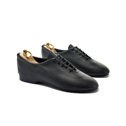REGENT WHOLECUT SHOE - BLACK LEATHER