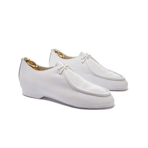 TURNER APRON SHOE - WHITE LEATHER
