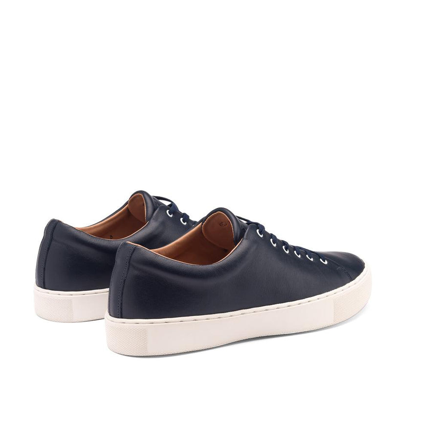 OVERSTONE DERBY SNEAKER - NAVY WHITE LEATHER