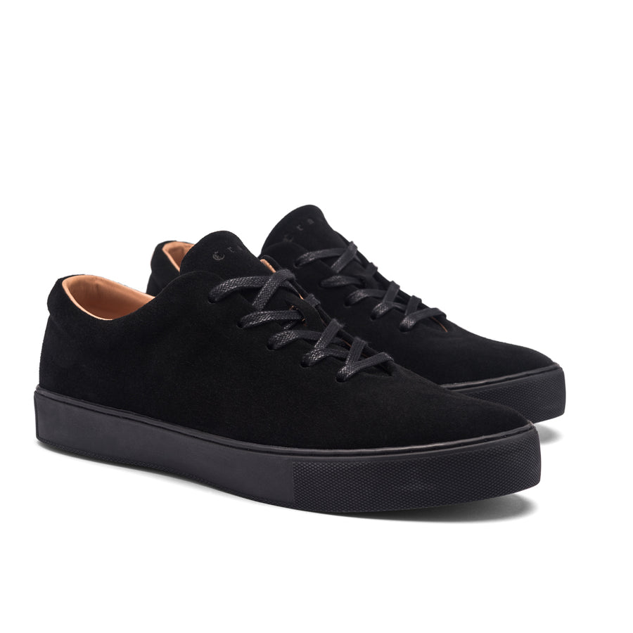 UPTON WHOLECUT SNEAKER - ALL BLACK SUEDE