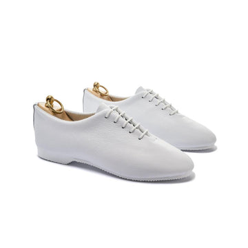 REGENT WHOLECUT SHOE - WHITE LEATHER