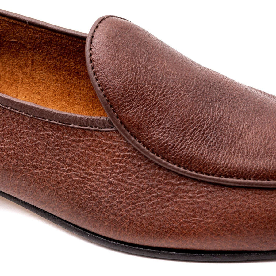 BROCKTON BELGIAN SLIPPER - CARAMEL KUDU LEATHER