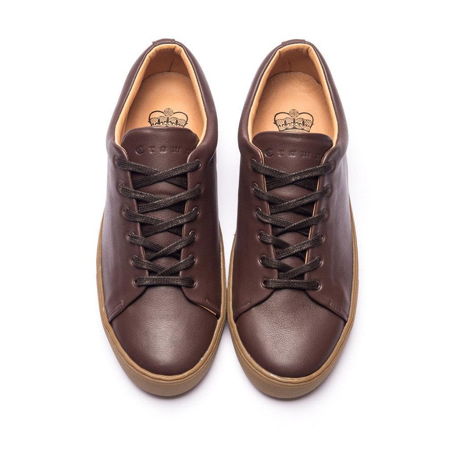 OVERSTONE DERBY SNEAKER - BROWN GUM LEATHER