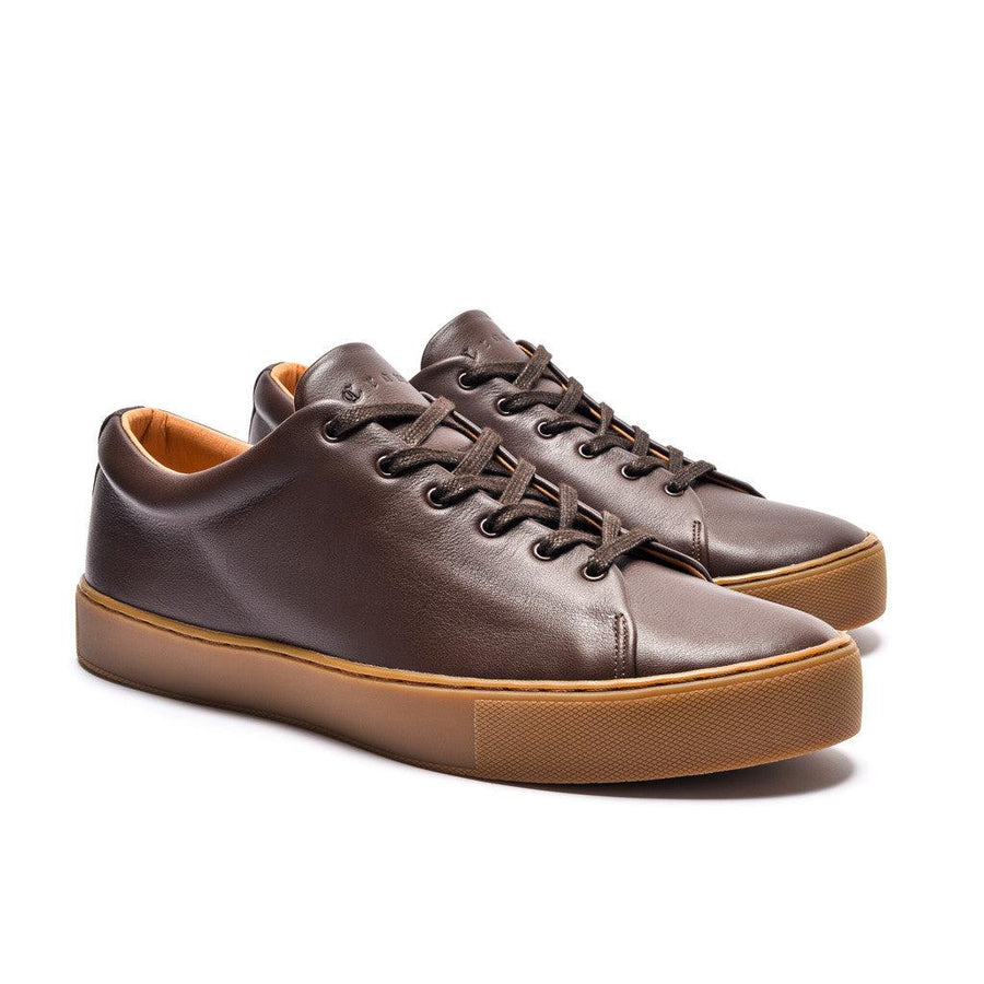 OVERSTONE DERBY - BROWN LEATHER GUM