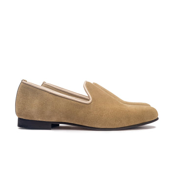 DUKE LEATHER SOLE SLIPPER - SAND SUEDE