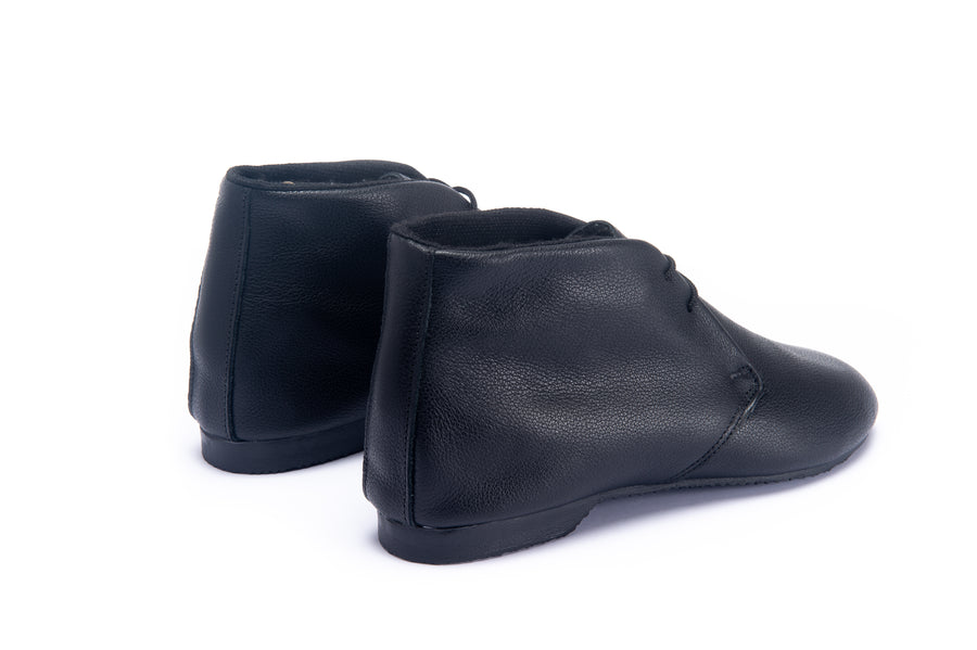 STIMPSON ANKLE BOOT - BLACK LEATHER