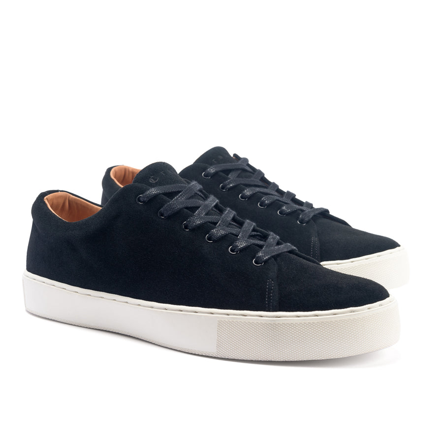 OVERSTONE DERBY - BLACK SUEDE WHITE