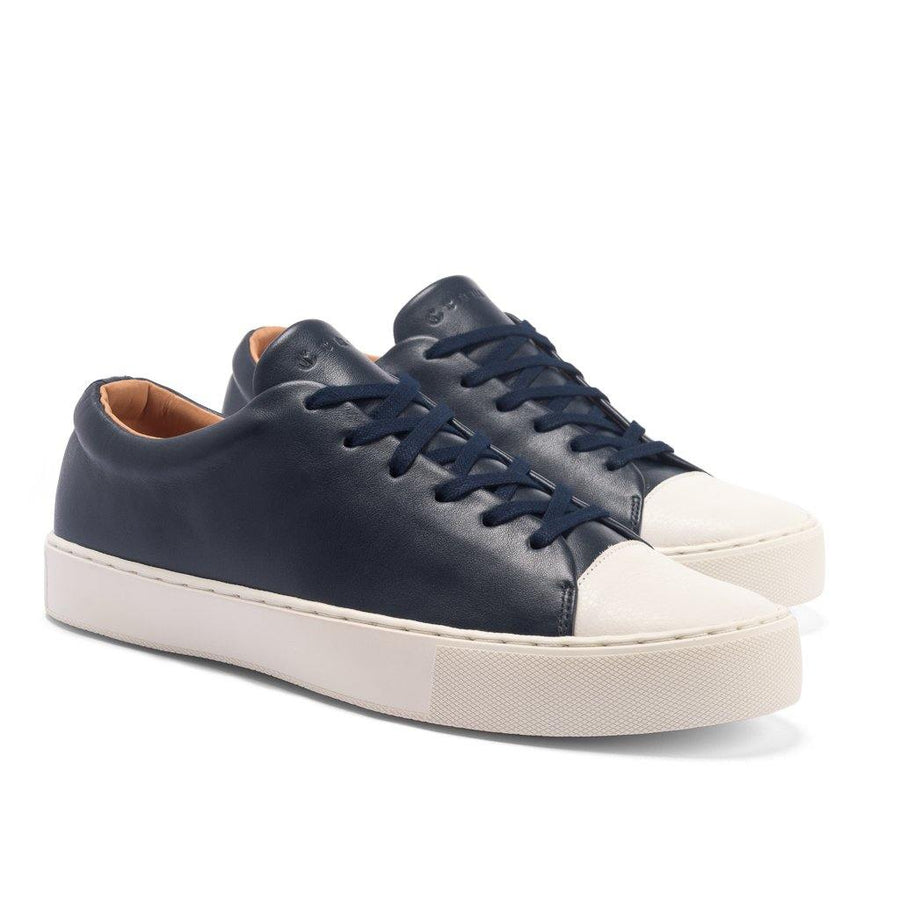 Abington Toe Cap - Navy Calf Leather