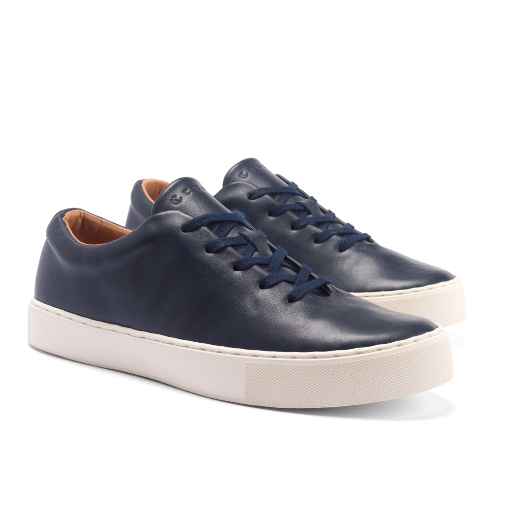 UPTON WHOLECUT SNEAKER - NAVY WHITE LEATHER