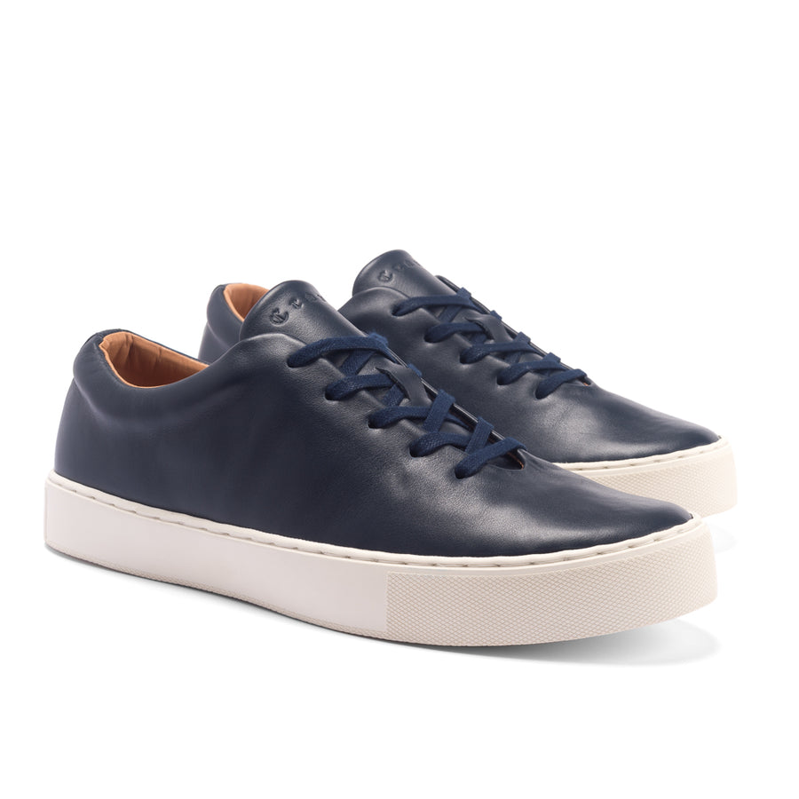 UPTON WHOLECUT - NAVY LEATHER WHITE