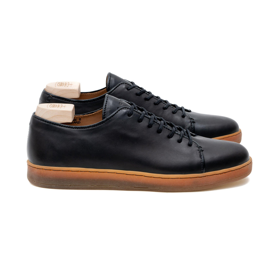 Harlestone Hand Stitch Derby - Black Veg Tan Calf Leather