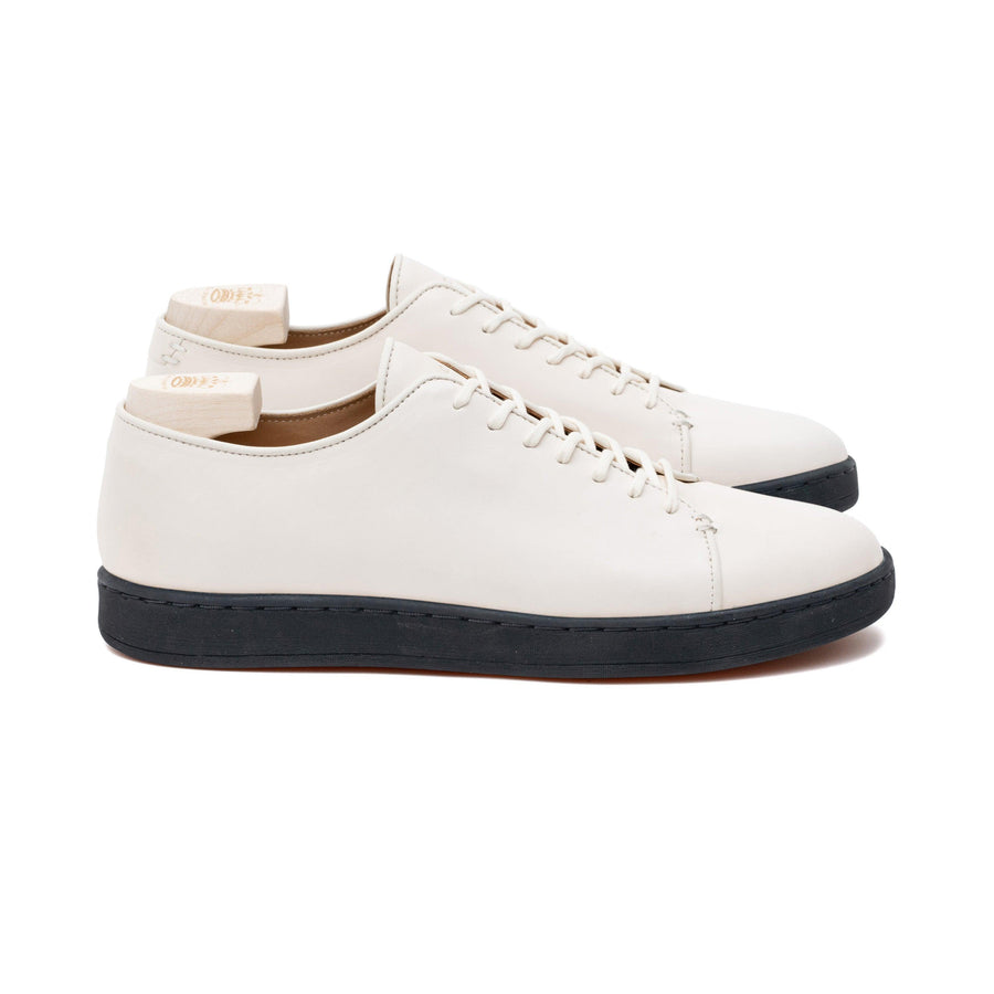 Harlestone Hand Stitch Derby - Off White Veg Tan Calf Leather