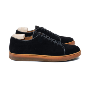 Harlestone Hand Stitch Derby - Black Scottish Deer Suede
