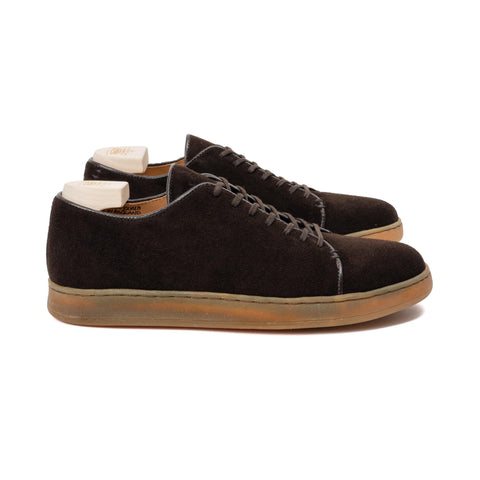 Harlestone Hand Stitch Derby - Brown Scottish Deer Suede