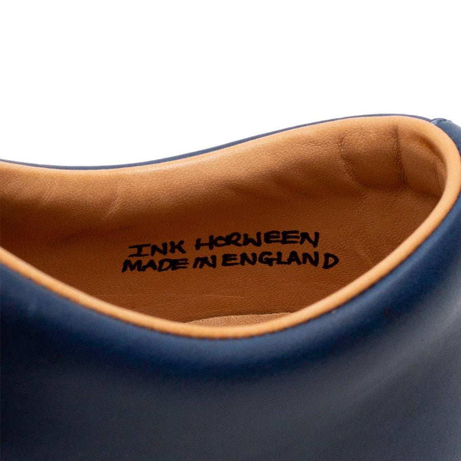 ABINGTON TOE CAP - HORWEEN INK CAVALIER WHITE
