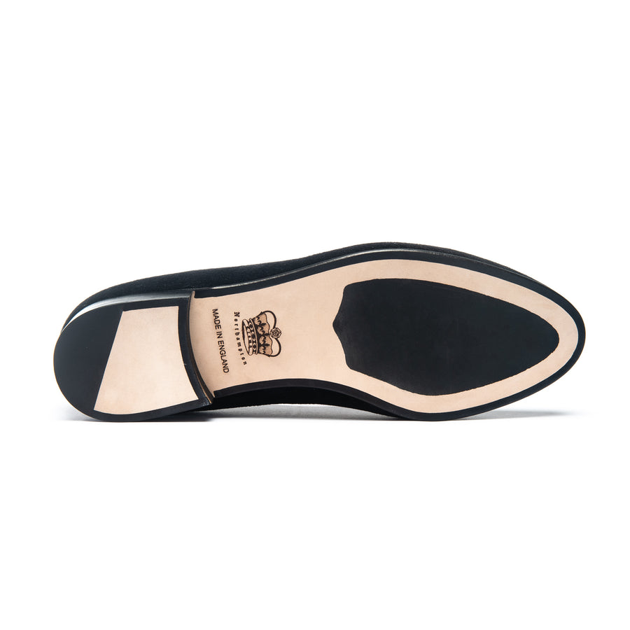 EARL LEATHER SOLE SLIPPER - MUSTARD VELVET