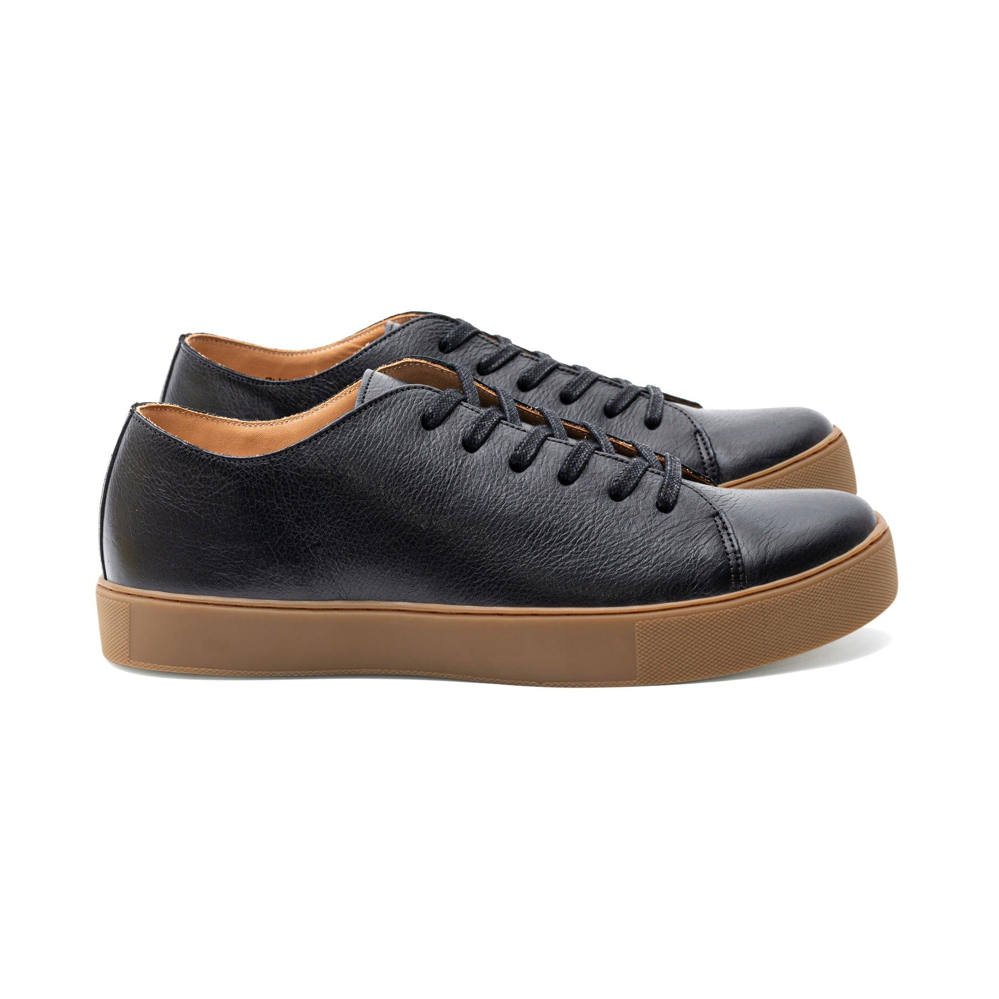 gum sole leather sneakers