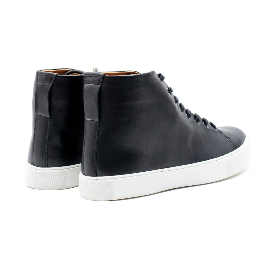 Overstone Hi Derby - Black Calf Leather