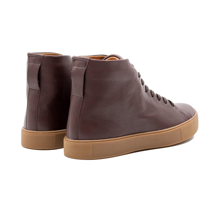 Overstone Hi Derby - Brown Calf Leather