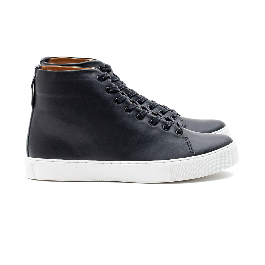 Overstone Hi Derby - Black Leather White