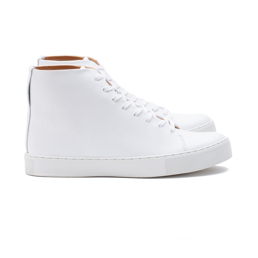Overstone Hi Derby - All White Calf Leather