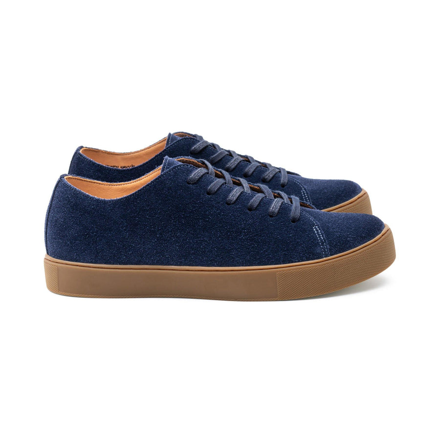 Overstone Derby TL - French Navy Kudu Suede