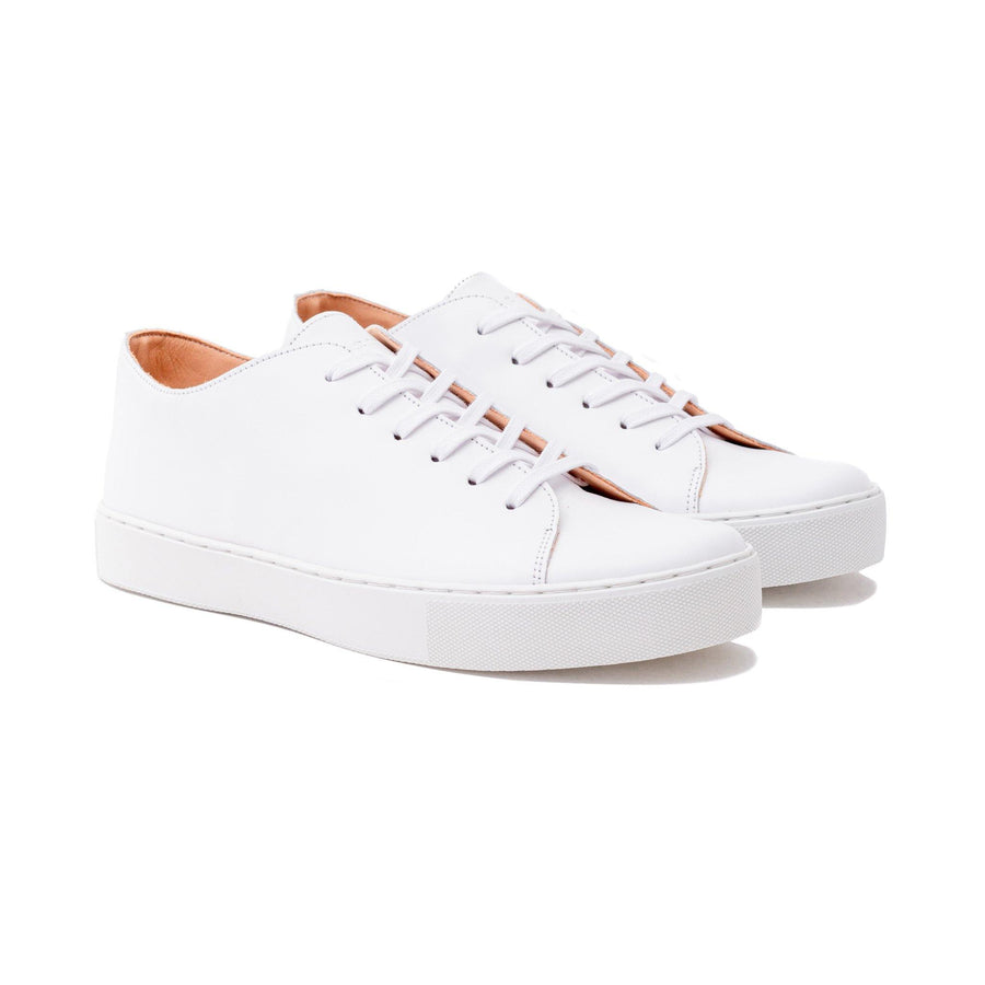 Overstone Derby TL - All White Calf Leather