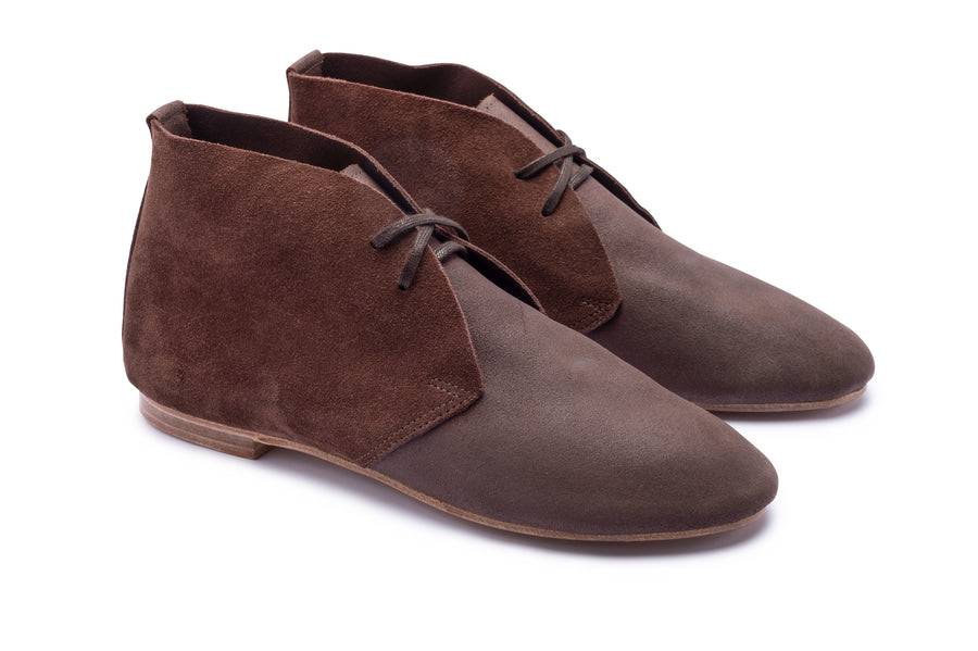 STIMPSON ANKLE BOOT - SOLE LINE - BROWN SUEDE