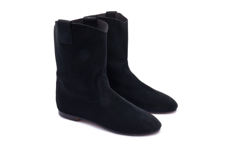 VICTORIA MID BOOT - SOLE LINE - BLACK SUEDE