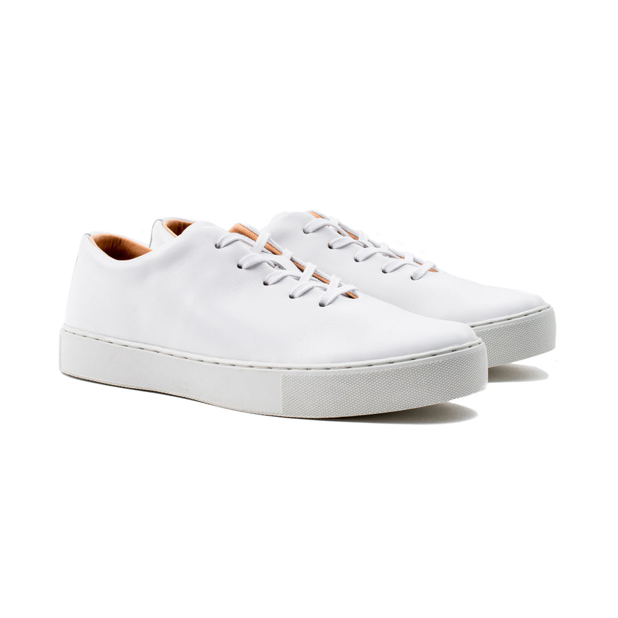 Upton Wholecut - All White Calf Leather