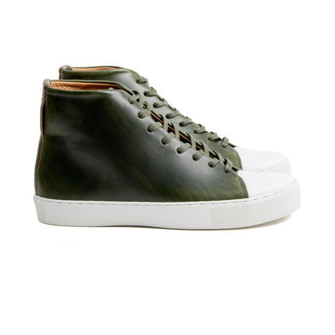 Abington Hi Toe Cap - Horween Forest Green Chromexcel