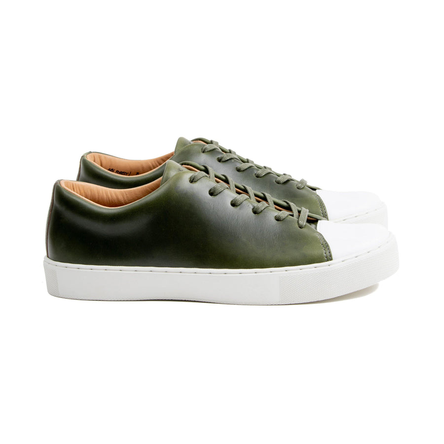 Abington Toe Cap - Horween Forest Green Chromexcel