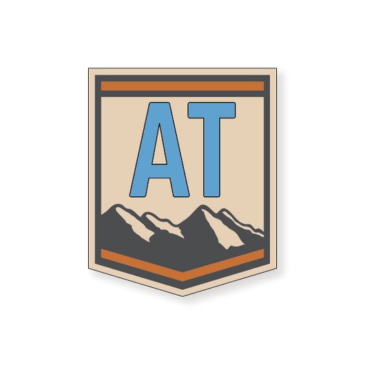 Appalachian Trail Badge 2 - Blue - 3.5