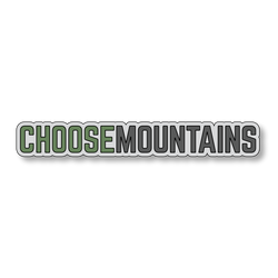 Choose Mountains - Gray/Green - 7