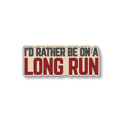 I'd Rather Be On A Long Run - Sand/Red - 5