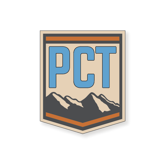 Pacific Crest Trail Badge 2 - Blue - 3.5