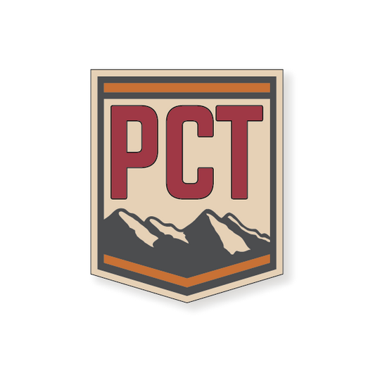 Pacific Crest Trail Badge 2 - Red - 3.5