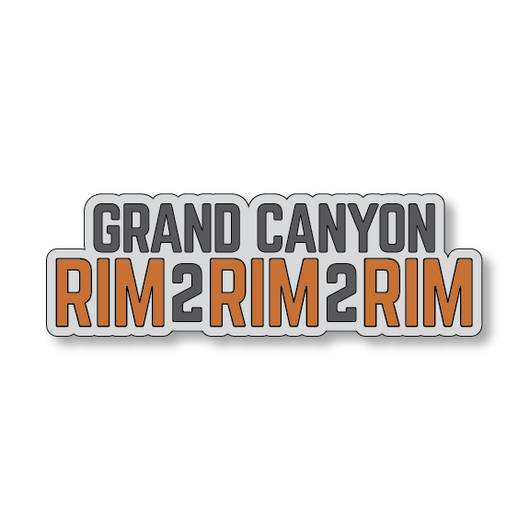 Grand Canyon Rim2Rim2Rim - Gray/Orange - 5.5