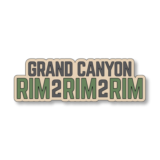 Grand Canyon Rim2Rim2Rim - Sand/Green - 5.5