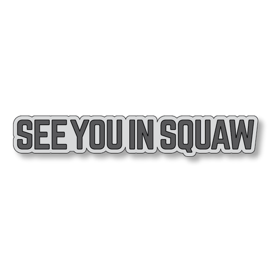 See You In Squaw - Gray/Dark Gray - 7