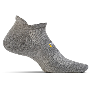 Feetures High Performance Cushion Socks, No Show Tab (color: Heather Grey)