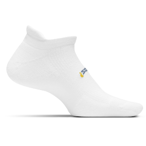 Feetures High Performance Cushion Socks, No Show Tab (color: White)
