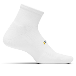 Feetures High Performance Cushion Socks, Quarter (color: White)