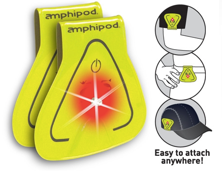 Amphipod Vizlet LED 2 Pack Triangle Reflectors (SKU: 422-Y-Yellow)